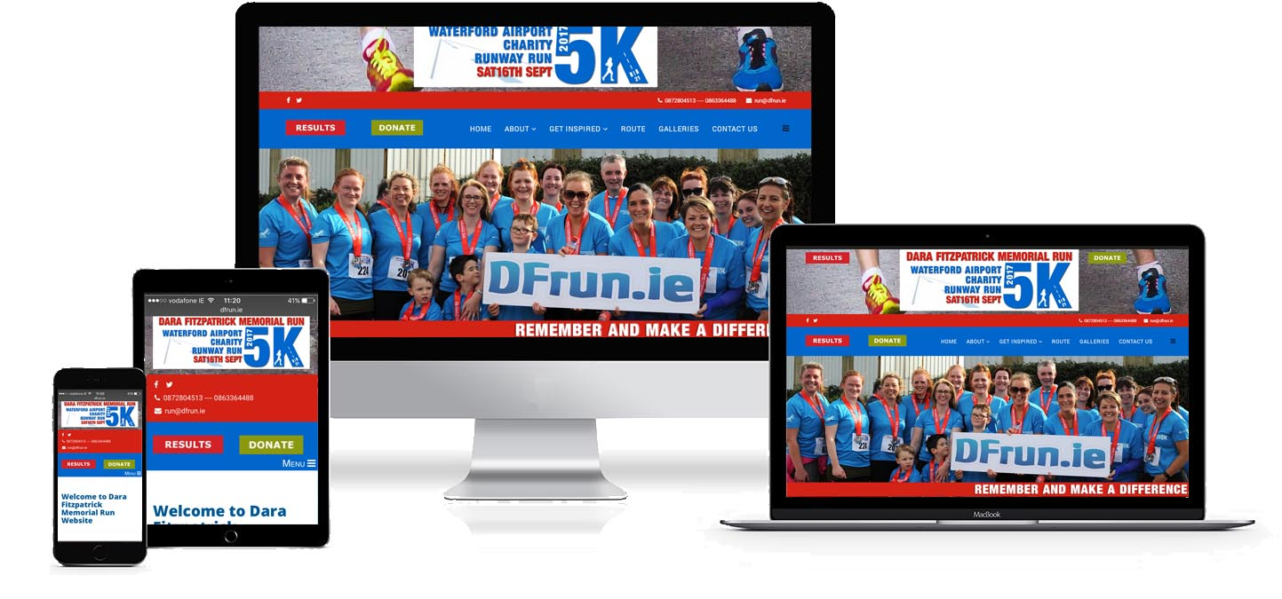 dfrun website design project image