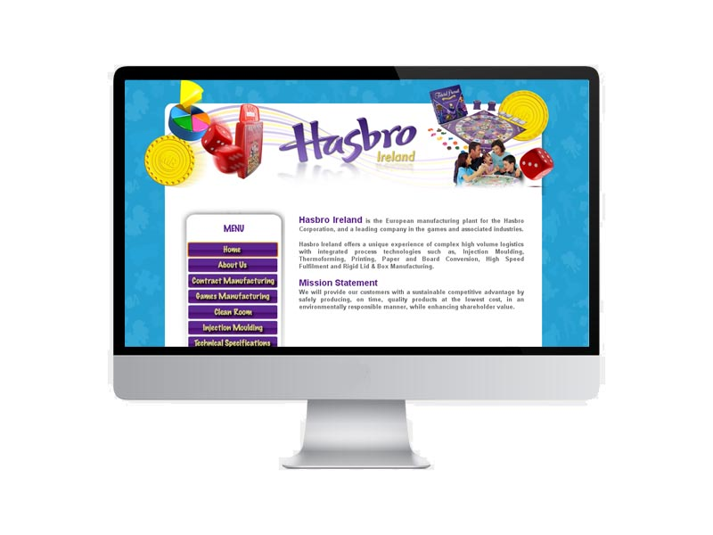 Image of Hasbro Ireland Web Site Development