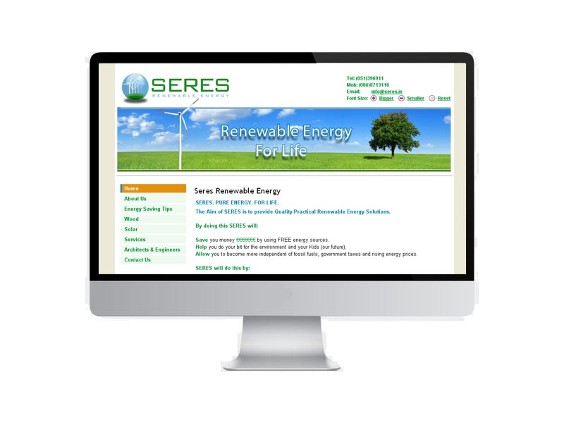Website design Project for South Eastern Renewable Energy Solutions Project