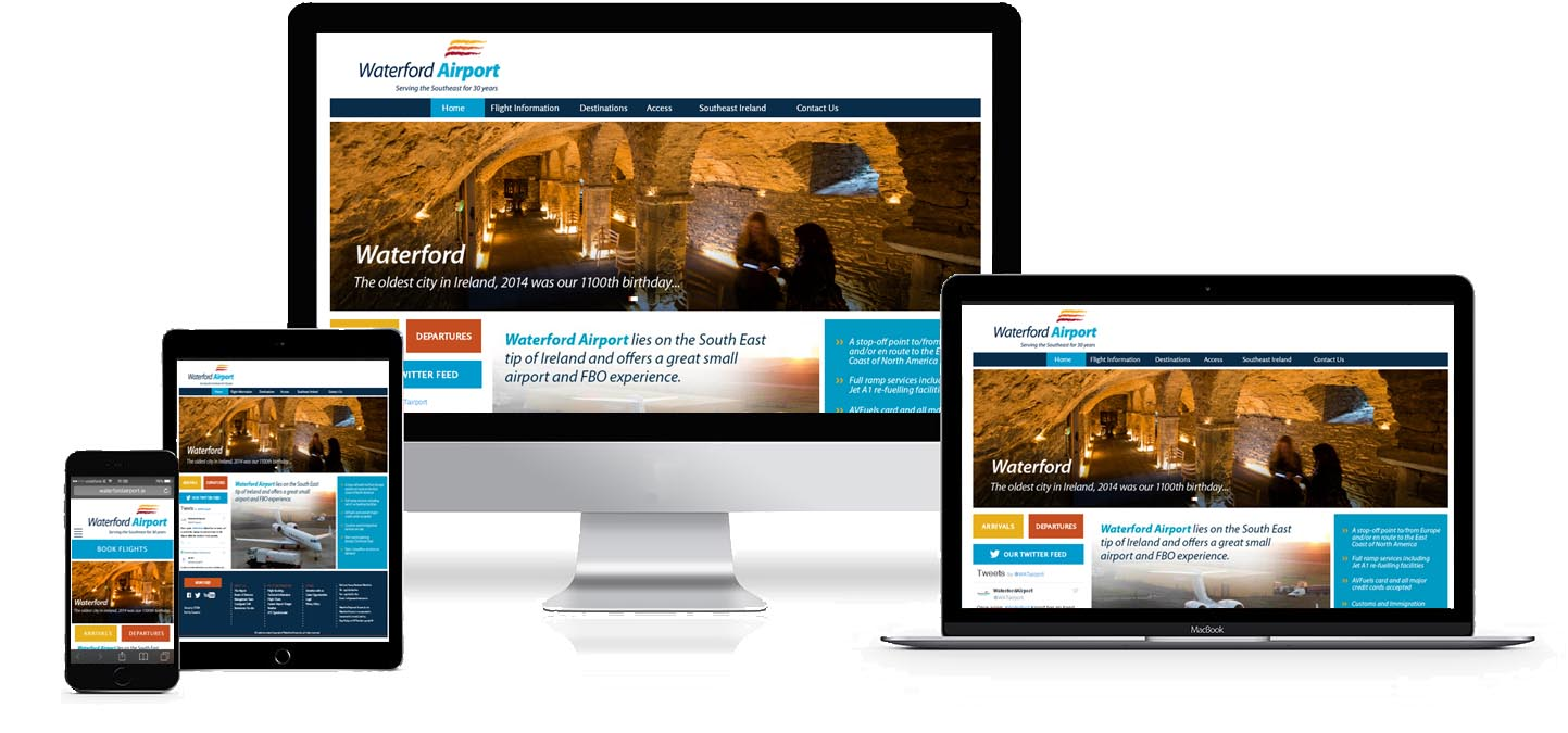 waterford airport website design project image