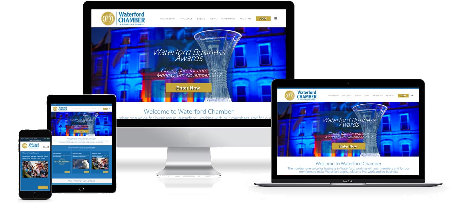 waterford chamber website design project image