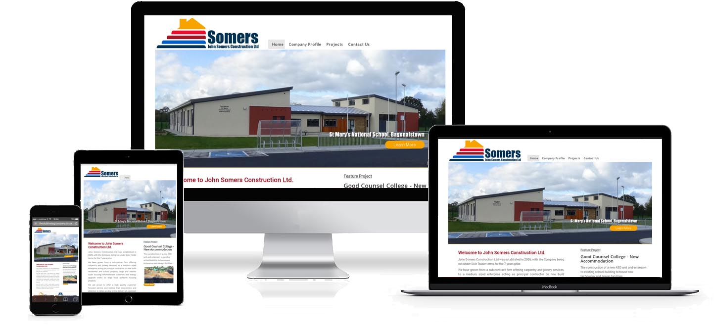 Image of John Somers Construction website