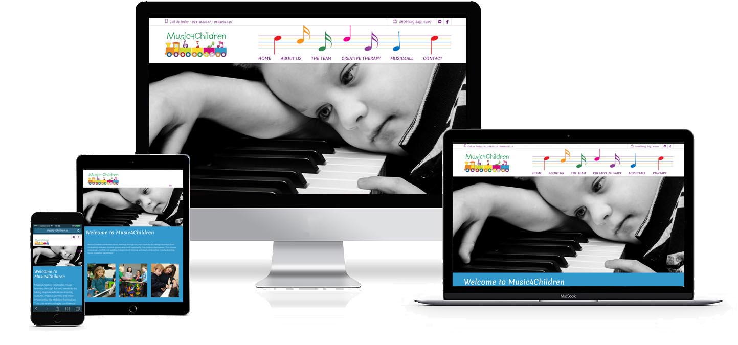 Image and link to Music4Children Web Site Development